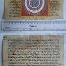 Original Antique Old Manuscript Jainism Cosmology New Hand Painting Rare #620