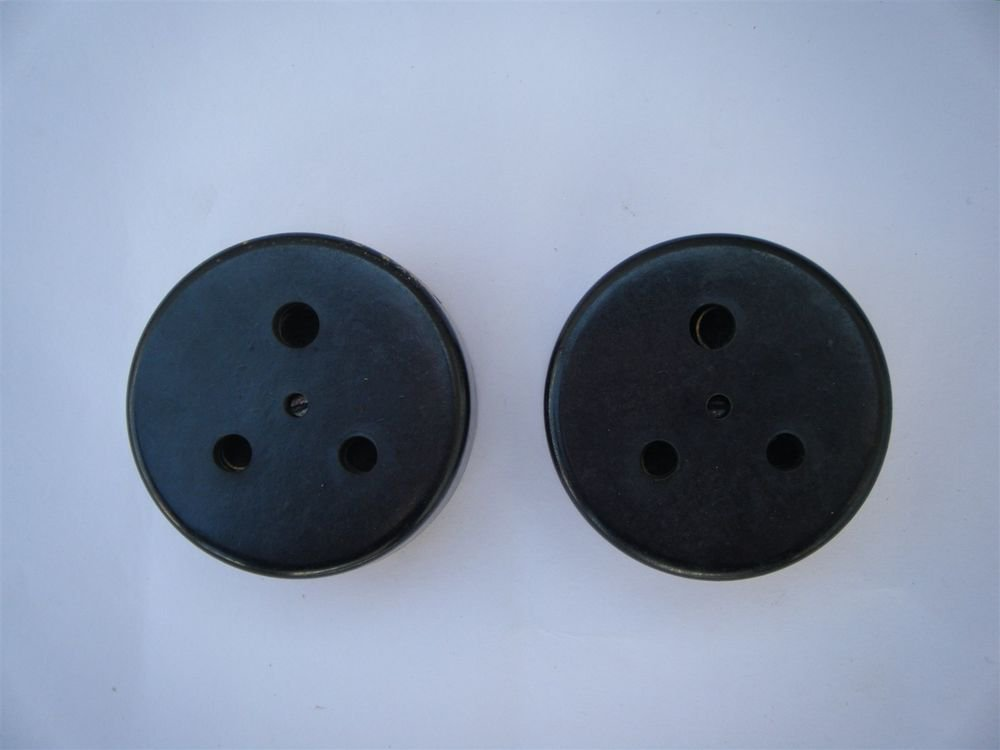 1950s Old Lot Of 2 Bakelite & Porcelain Electric Socket Made in India Rare #1179