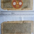 Rare Original Antique Old Manuscript Jain Cosmology New Hand Painting India#646
