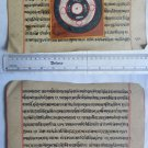 Rare Original Antique Old Manuscript Jain Cosmology New Hand Painting India#636