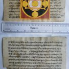 Rare Original Antique Old Manuscript Jain Cosmology New Hand Painting India#650
