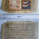 Original Antique Old Manuscript Jainism Cosmology New Hand Painting Rare #615