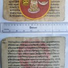 Original Antique Old Manuscript Indian Cosmology New Hand Painting Rare #589