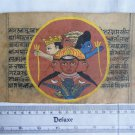 Original Antique Manuscript Old Jain Cosmology New Hand Painting Rare India #567