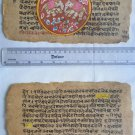 Original Antique Manuscript Old Jain Cosmology New Hand Painting Rare India #561