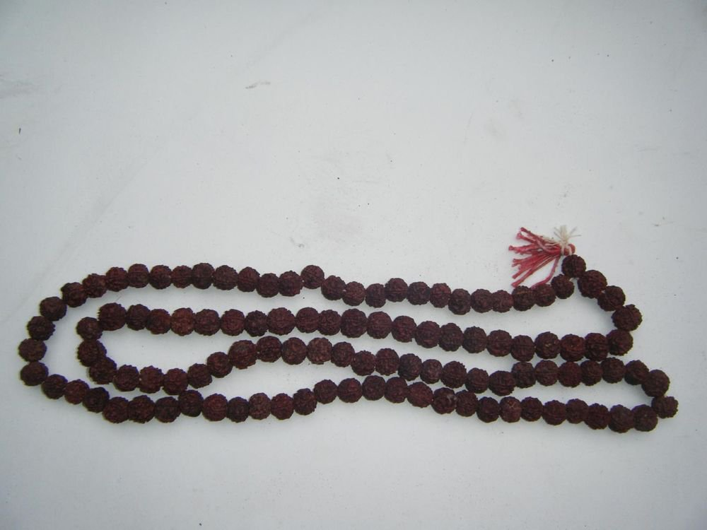 5 FACE RUDRAKSHA 109 beads LORD SHIVA JAPA Meditation MALA Natural Rudraksha#736
