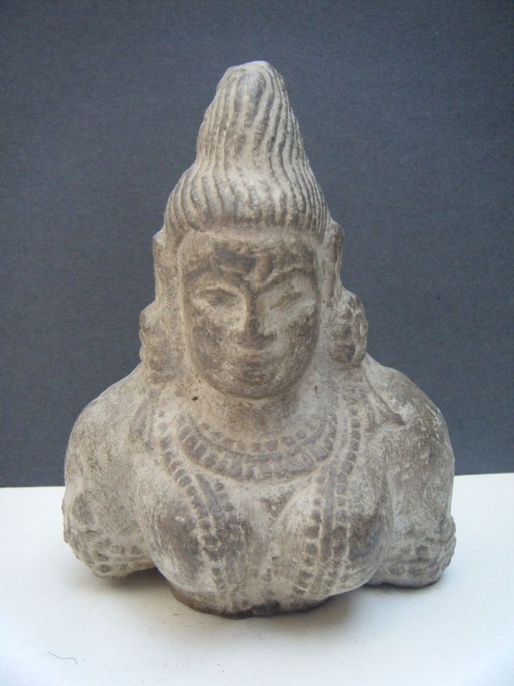 Goddess Stone Statue, Vintage Antique Old Handmade Original Goddess India #484