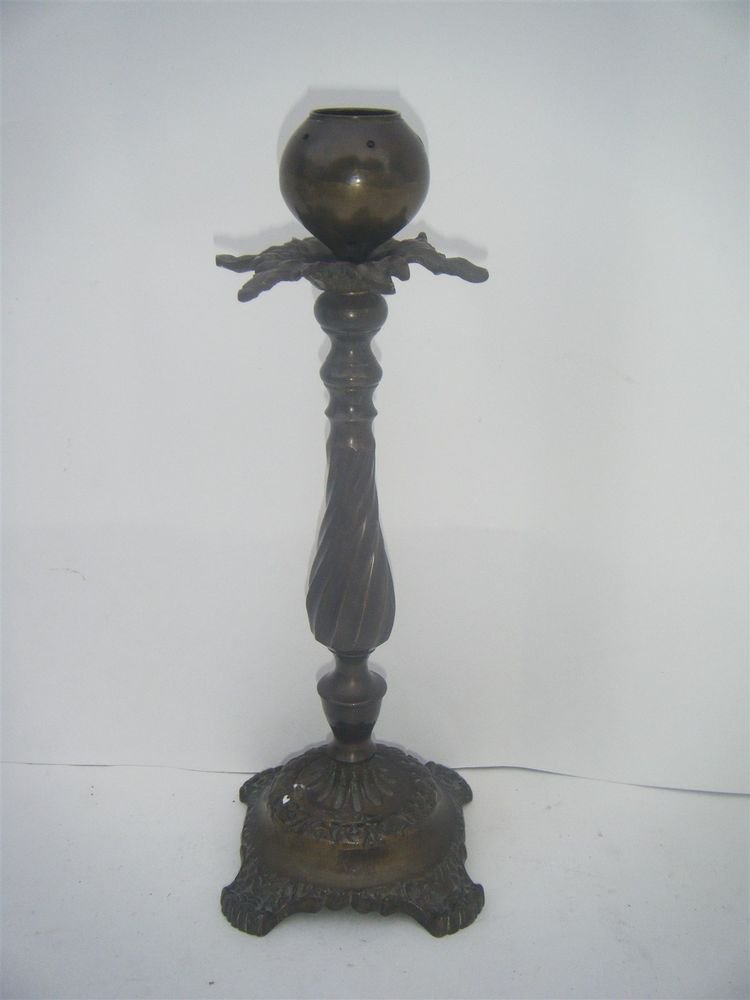 Candle Stand Vintage Antique Brass Candle Holder Decorative India Rare #1001