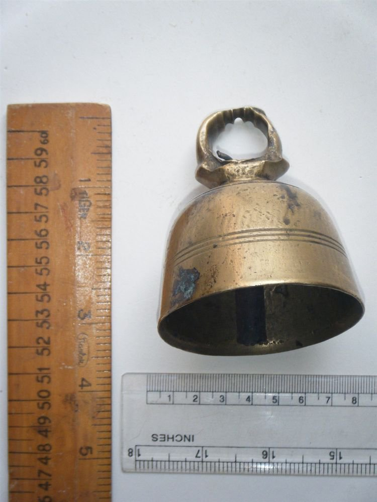 Antique Hindu Traditional Indian Ethnic Ritual Bronze Bell Rare,Temple Bell #409