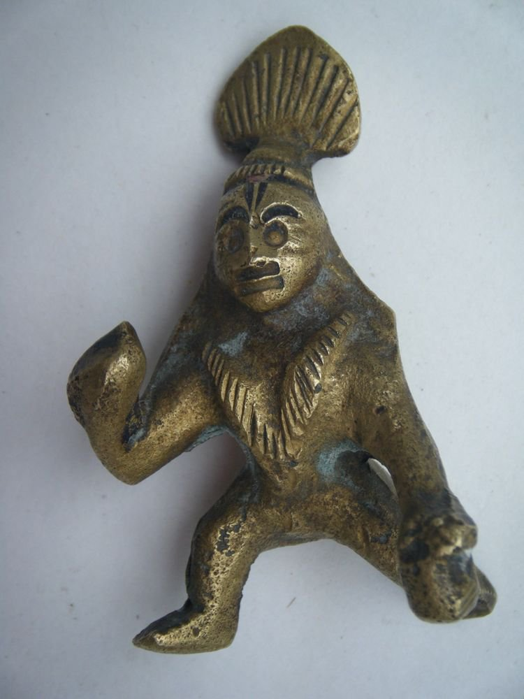 Antique Old Indian Brass Statue God Baby Krishna Crawling Rare Collectible #782