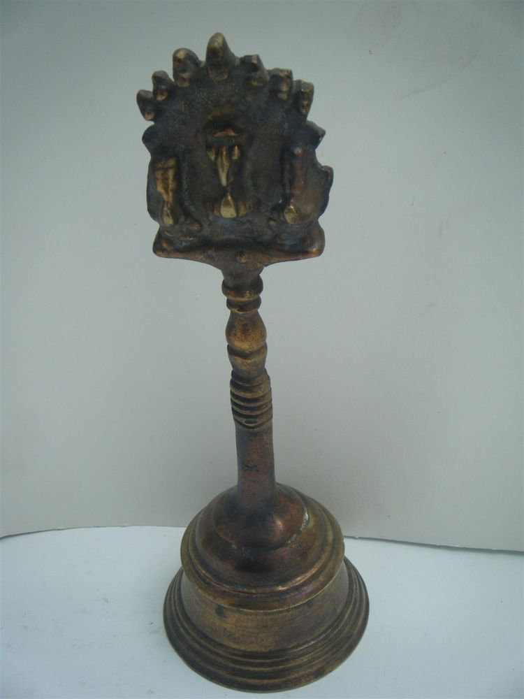 Brass Temple Bell Hindu Traditional Indian Ethnic Ritual Garuda Brass Bell #896
