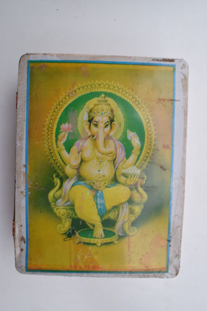 Old Sweets Tin Box, Rare Collectible Litho Printed Tin Boxes India #1402