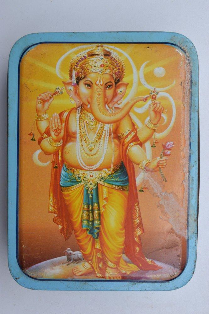 Old Sweets Tin Box, Rare Collectible Litho Printed Tin Boxes India #1398