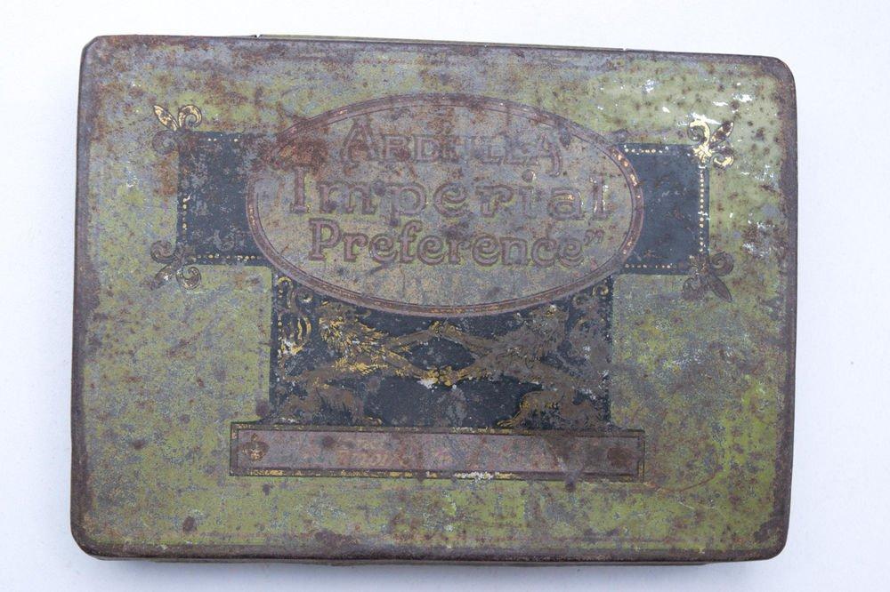 Old Sweets Tin Box, Rare Collectible Litho Printed Tin Boxes India #1499