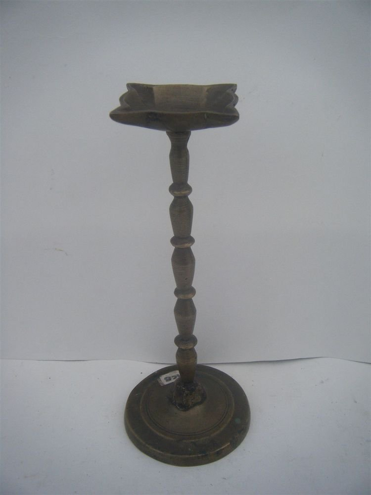 Brass Rare Temple Oil Lamp Rare Antique Indian Ritual Figure Traditional #1000