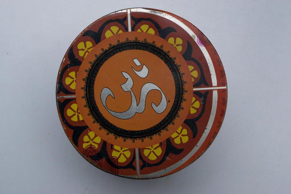 Old Sweets Tin Box, Rare Collectible Litho Printed Tin Boxes India #1485