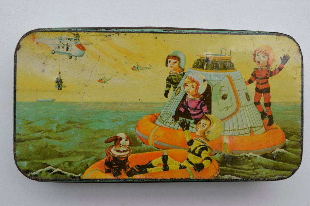 Old Sweets Tin Box, Rare Collectible Litho Printed Tin Boxes India #1480