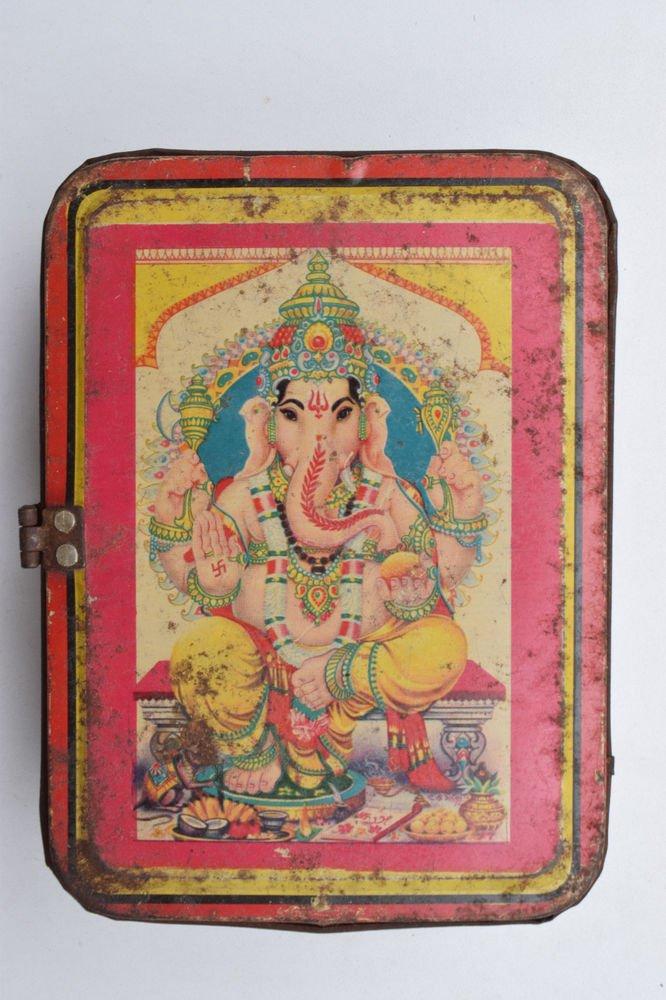 Old Sweets Tin Box, Rare Collectible Litho Printed Tin Boxes India #1396