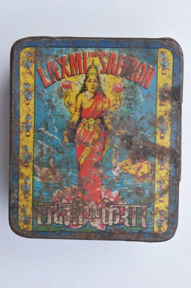 Old Sweets Tin Box, Rare Collectible Litho Printed Tin Boxes India #1367