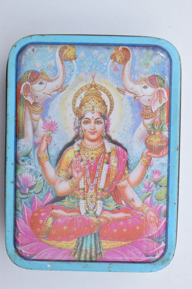 Old Sweets Tin Box, Rare Collectible Litho Printed Tin Boxes India #1371