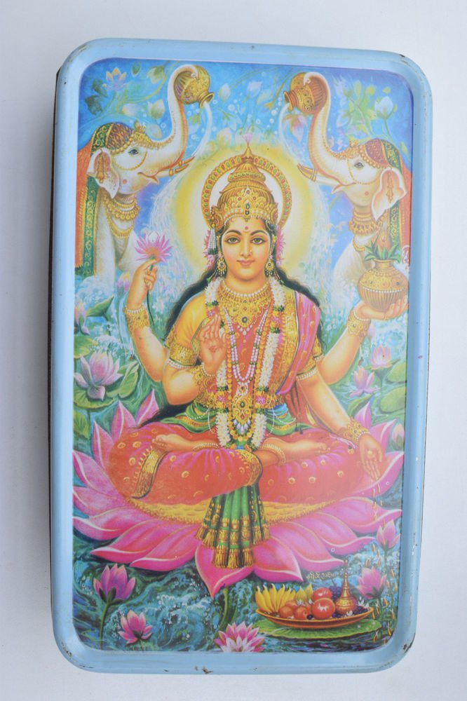Old Sweets Tin Box, Rare Collectible Litho Printed Tin Boxes India #1373