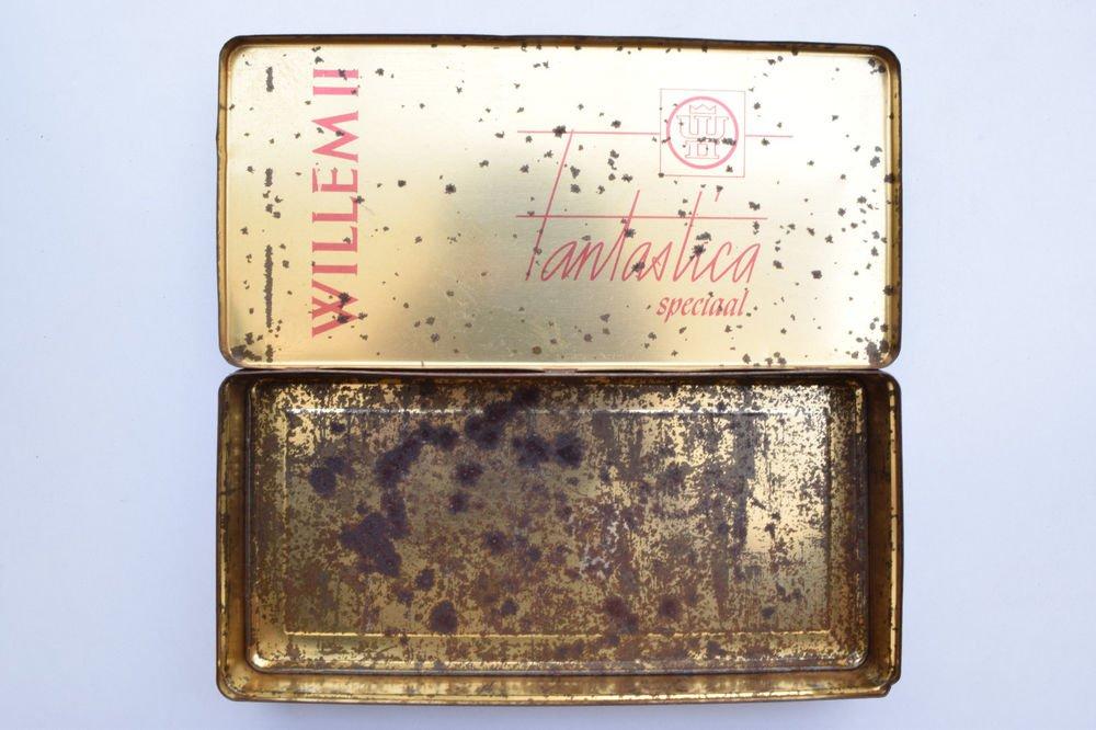 Old Sweets Tin Box, Rare Collectible Litho Printed Tin Boxes India #1345