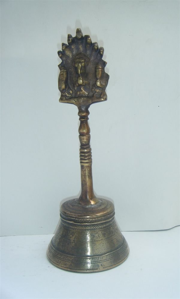 Brass Temple Bell Hindu Traditional Indian Ethnic Ritual Garuda Brass Bell #897