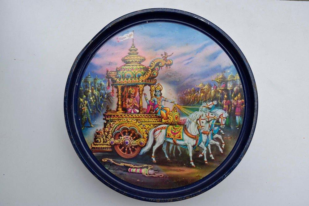 Old Sweets Tin Box, Rare Collectible Litho Printed Tin Boxes India #1461