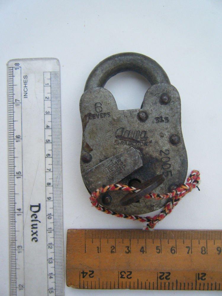 Original Old Iron Lock Antique Handmade Heavy Pad Lock Rare India Working #1542
