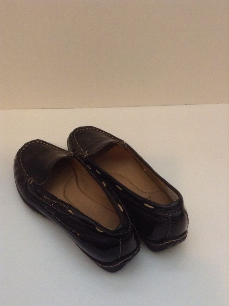 Bjorndal Black Leather Womens  Slip On Casual Comfort Pump Sz 6M.