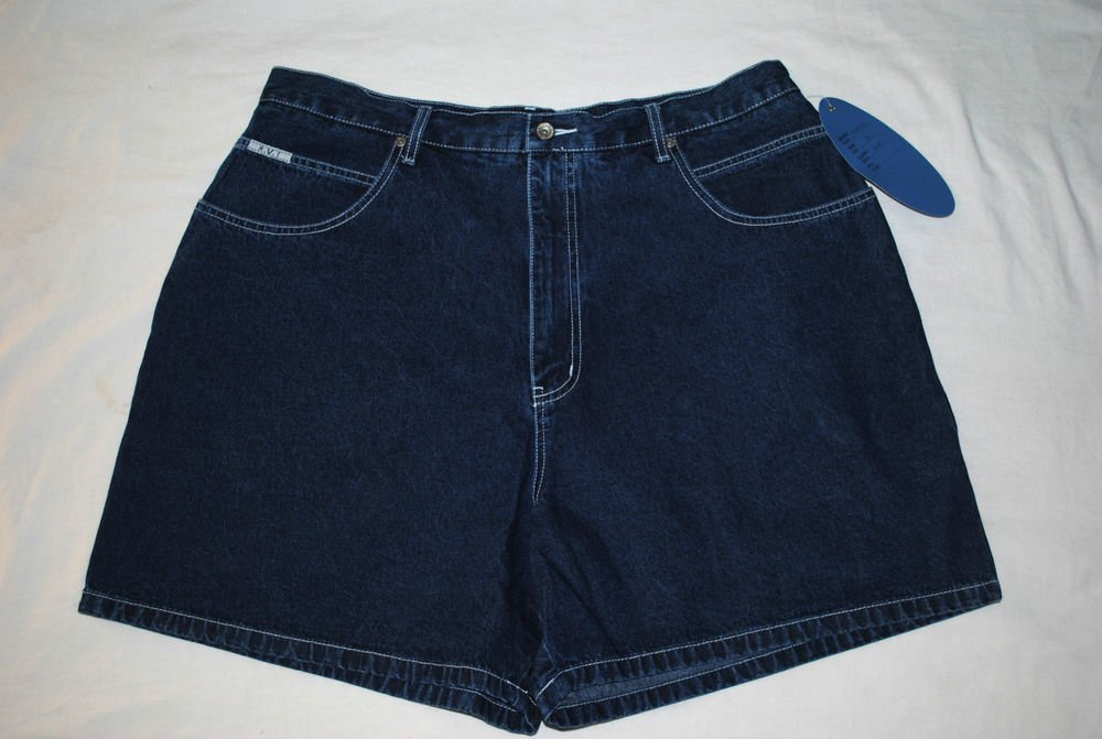 RVT Serve Piping Hot Women Dark Wash Blue Denim Casual shorts Size 24 Cargo