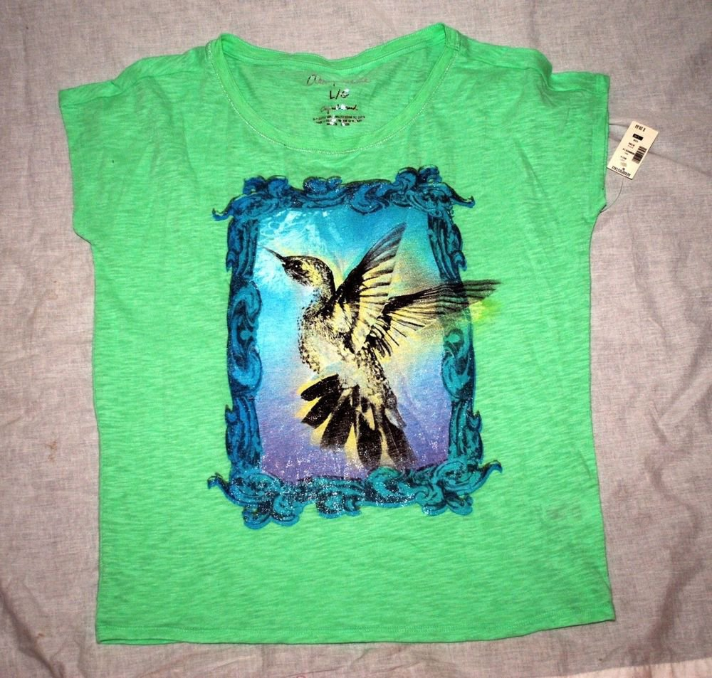 2x Aeropostale Size L Womens Graphic T-Shirt Hearts Cupcakes Flowers $29.50