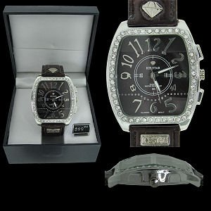 ISW-05 - Authentic Ice Star Watch with Leather Band