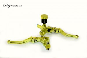 CNC brake controls Lime green anodized