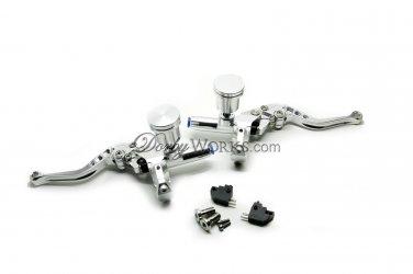 Honda ruckus CNC brake controls raw polished anodized