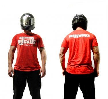 Dorbyworks HONDA RUCKUS SHIRT Performance WHITE / RED shirt - medium