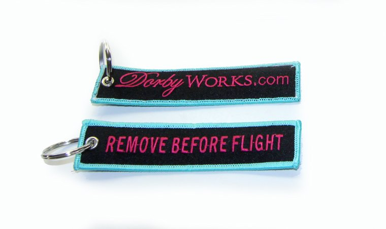 DORBYWORKS Remove before flight key chain MIAMIVICE EDITION