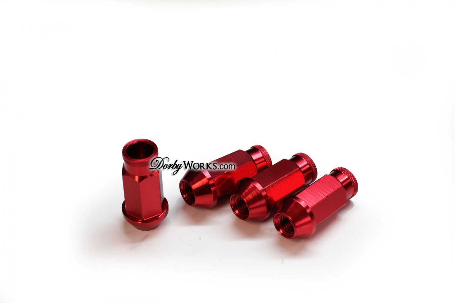 RED Lug nuts extended Forged Aluminum / Anodized
