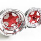 Honda Ruckus wheels rims RED LUCKYSTAR 2 piece billet forged wheel SET / front hub