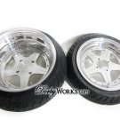 "SUPERSTAR  13"" FRONT / 13"" REAR billet forged honda ruckus wheels rims + TIRES mounted"