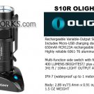 OLIGHT S10R Baton Tactical LED recharegable flashlight 400 LUMENS with usb charger.