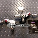 Brake Levers Polished billet CNC adjustable ADELIN
