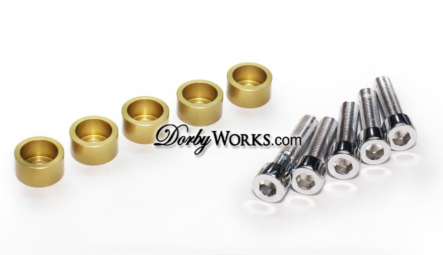 Honda Ruckus Frame Chrome bolt kit , billet washer, 10 piece kit GOLD anodized