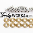Honda Ruckus Billet Stainless hardware kit GOLD anodized