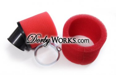 Dual Layer Pod Air Filter - RED 1.5""