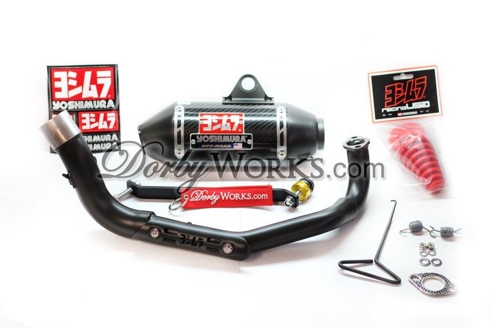 GY6 YOSHIMURA Carbon fiber exhaust system CERAMIC COATED