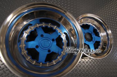 "STAR 2 piece BLUE "" discount "" 12x4 front / 12x8 rear"