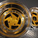 "SWIRL STAR 2 piece GOLD "" discount "" 12x4 front / 12x8 rear"