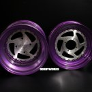 "2 PIECE SERIES "" 5 star directional "" Grape Brushed 5 star directional wheels rims + tires mounted"