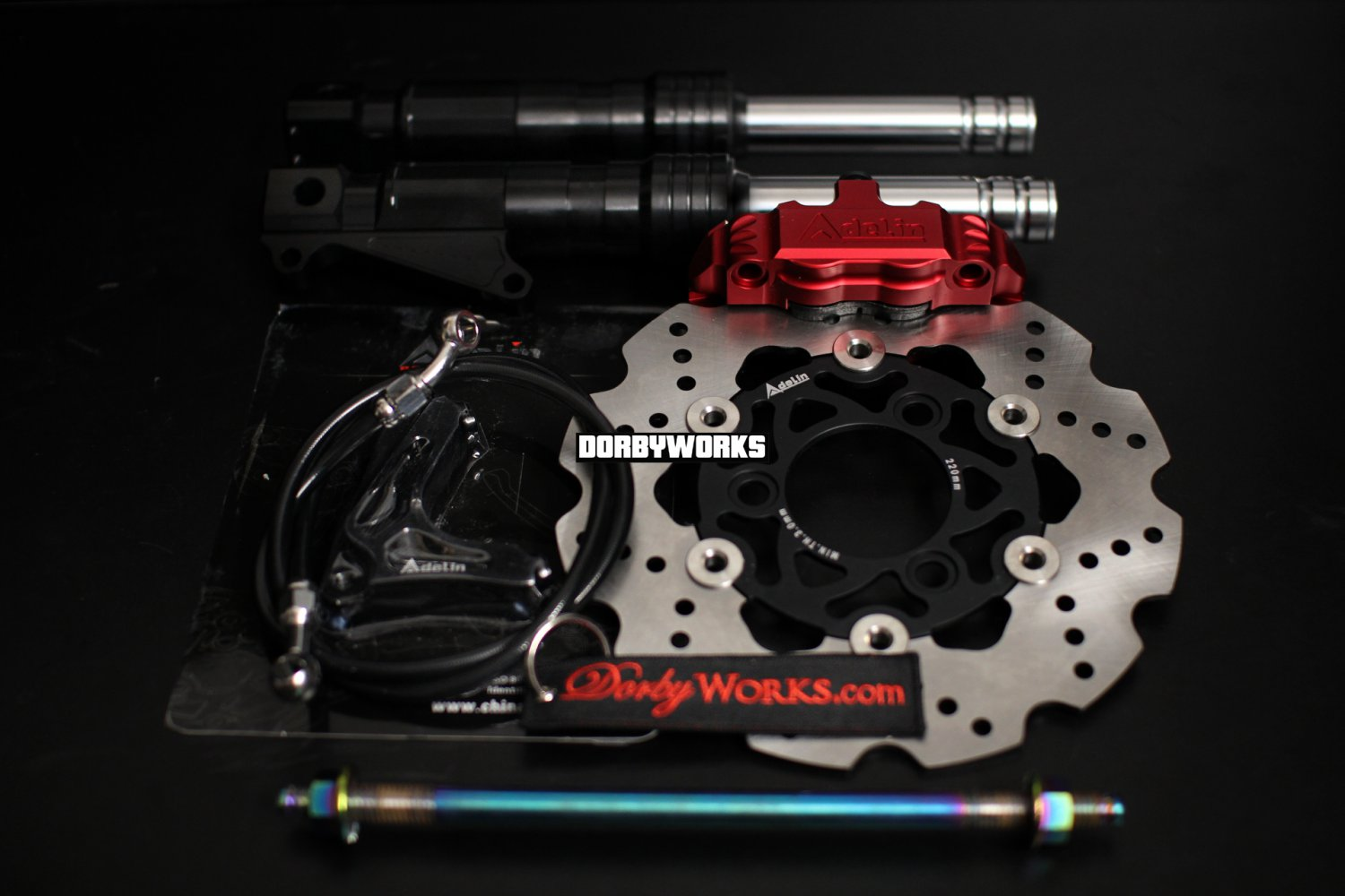 Ruckus Brake kit RED Adelin caliper